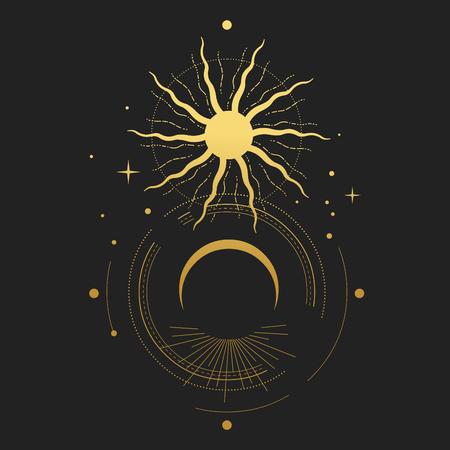 Illustration pour Eclipse Vector illustration - image libre de droit