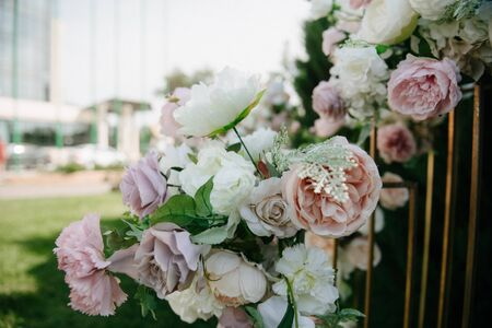 Foto für decoration and decoration of an outdoor wedding ceremony - Lizenzfreies Bild