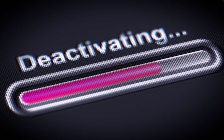 Process of Deactivating on a screen.