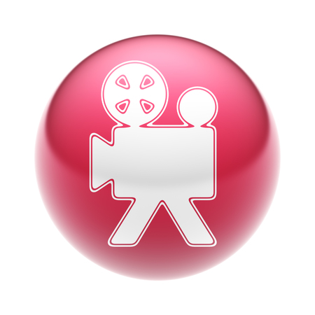 The Camera Icon on the red Ball.