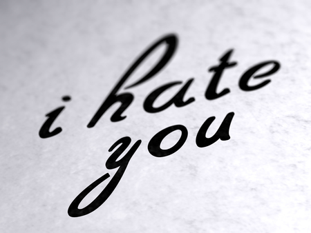 Photo pour i hate you on paper - image libre de droit