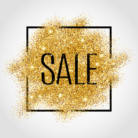 Ilustración de Gold sale background for  poster, shopping, for sale sign, discount, marketing, selling,web, header. Abstract golden background for text, type, quote. Gold blur background - Imagen libre de derechos