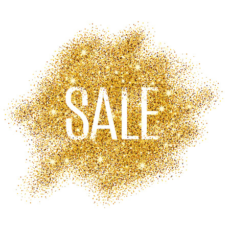 Illustration pour Gold sale background for  poster, shopping, for sale sign, discount, marketing, selling,  web, header. Abstract golden background for text, type, quote. Gold blur background - image libre de droit