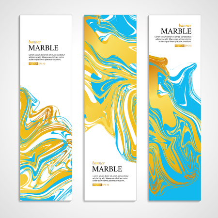 Marble texture banner. Abstract pattern for banner. Marble yellow background, banners. Gold marble. Blue background. Banners for , web, card, vip exclusive certificate, gift luxury voucher.