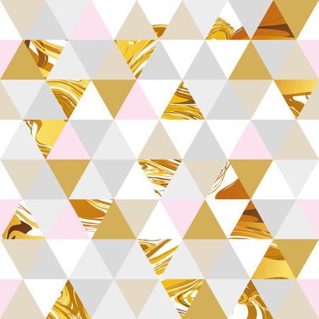 Ilustración de Geometric marble seamless marble gold pattern background. Color geometric background for flyer, poster, marketing, card, banner, web header. Marble golden colorful background - Imagen libre de derechos