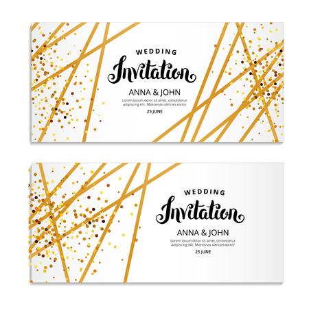 Illustration pour Gold Line Invitation - image libre de droit
