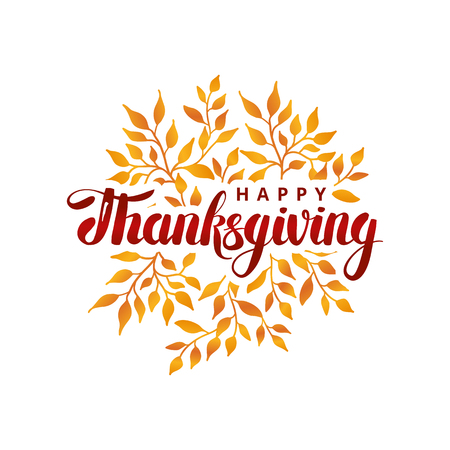 Illustration pour Happy thanksgiving day template - image libre de droit