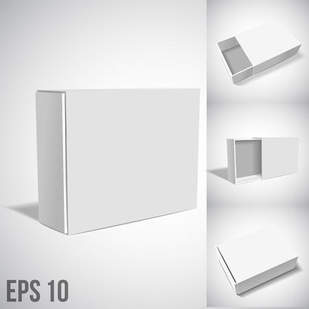 vtctor illustartion of White Package Box isolated on white
