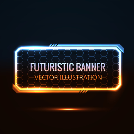 Illustration pour Illustartion of futuristic glowing background vector illustration - image libre de droit