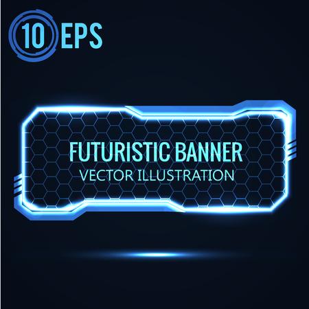 Illustration pour Illustartion of futuristic glowing background vector illustration - image libre de droit