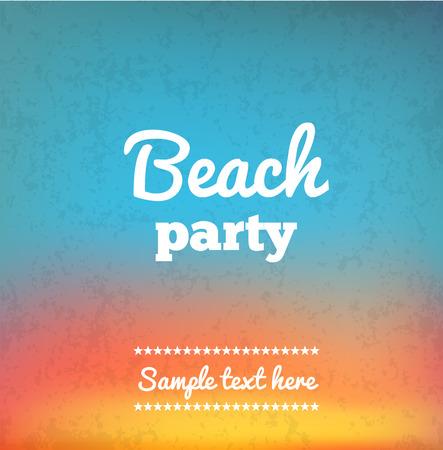 Ilustración de Illustartion of Beach Party Flye with place for text - Imagen libre de derechos
