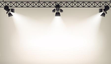 Illustration pour Illustration of Spot light background eps 10 - image libre de droit