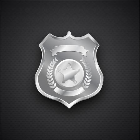 Illustration pour Illustartion of  Vector metal Police Badge eps 10 - image libre de droit
