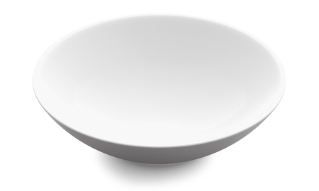 White Sphere Bowl top view on white background  Isolated 3d model