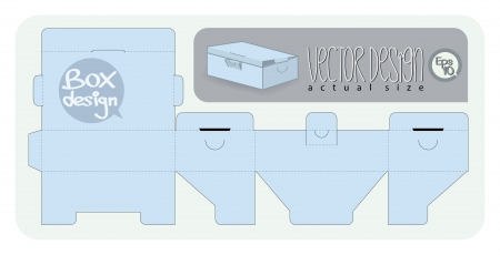 Vector Gift Box paper die cut  actual size