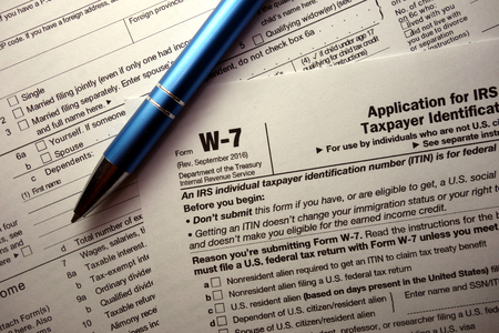 W-7 tax form for non-US citizens