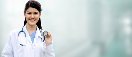 Photo pour Professional doctor at the hospital. Medical healthcare business and doctor service. - image libre de droit