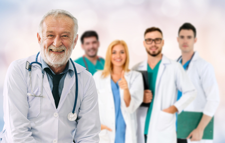 Foto für Healthcare people group. Professional doctor working in hospital office or clinic with other doctors, nurse and surgeon. Medical technology research institute and doctor staff service concept. - Lizenzfreies Bild