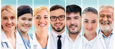 Photo pour Professional healthcare people doctor, nurse or surgeon. - image libre de droit