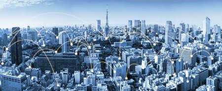 Foto für The modern creative communication and internet network connect in smart city - Lizenzfreies Bild