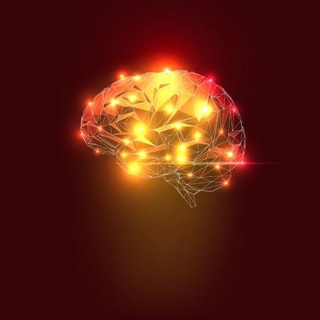 Illustration pour Abstract Human Brain with Lights. Vector Illustration - image libre de droit