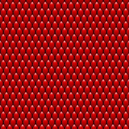 Red Dragon Scales Seamless Pattern Background  Vector