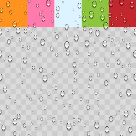 Water Transparent Drops Seamless Pattern Background.