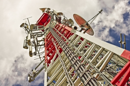 A communications tower for tv and mobile phone signals