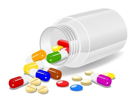 Medicine on white background