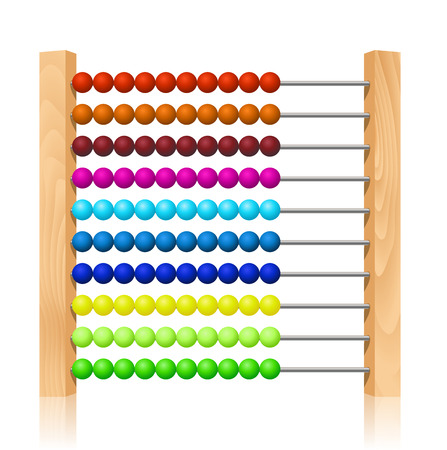 Abacus with colorful wooden beads