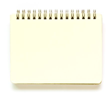 Recycle notebook  on white background.