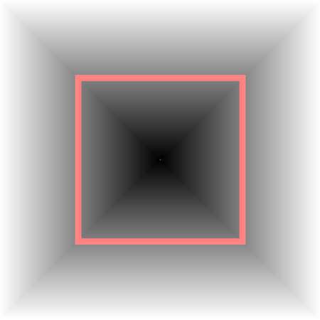 Foto per quadrato rosso in effetto tridimensionale - Immagine Royalty Free