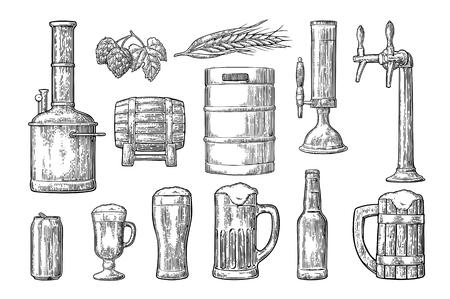 Illustration pour Beer set icon. - image libre de droit