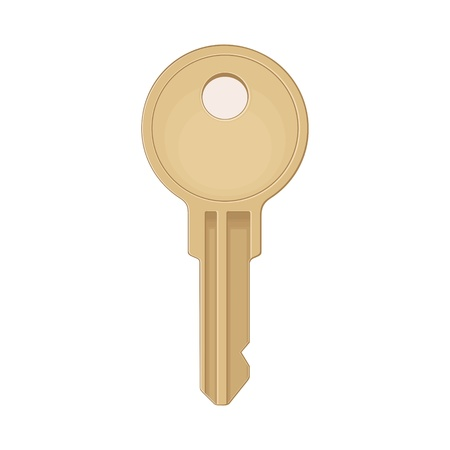 Illustration pour Classic key icon. Color vector flat illustration for info graphic, poster, web. Isolated on white background. - image libre de droit