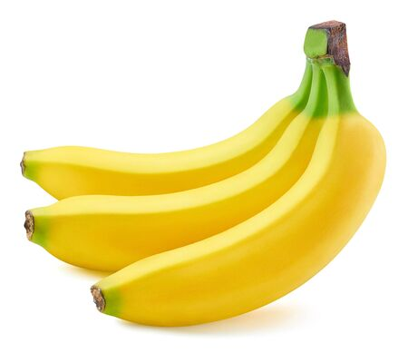 Photo pour Bunch of bananas isolated on white - image libre de droit