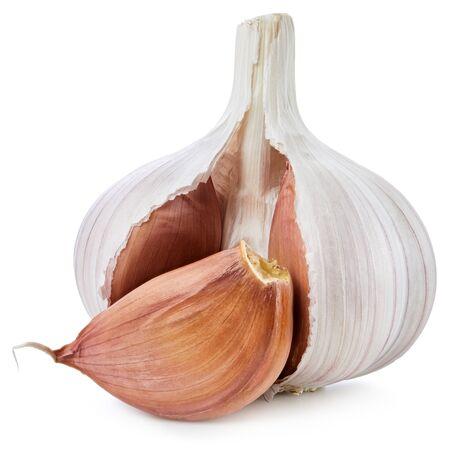 Foto für Fresh garlic isolated on white background. - Lizenzfreies Bild