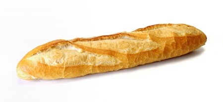 long loaf isolated on white background