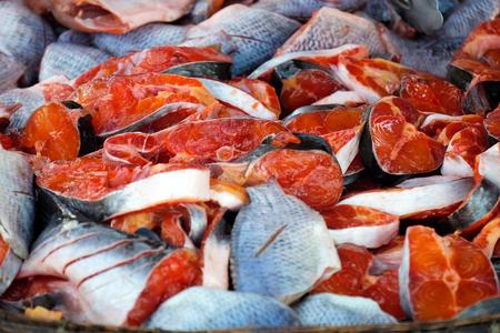 Colorful (Red) Slice fish , Sing-Buri, Thailand