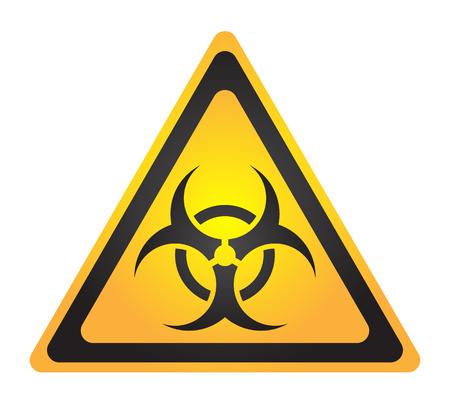 Biohazard illustration toxic sign, symbol. Warning radioactive zone triangle icon isolated on white background Radioactivity Dangerous radiation area symbol yellow black. Chemistry poison triangle 3d.の素材 [FY31088134977]