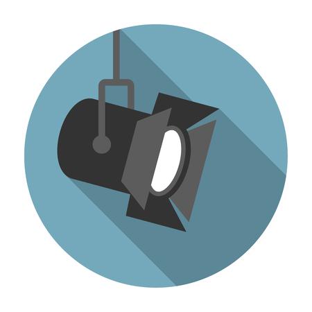 Ilustración de Movie spotlight flat icon - Imagen libre de derechos