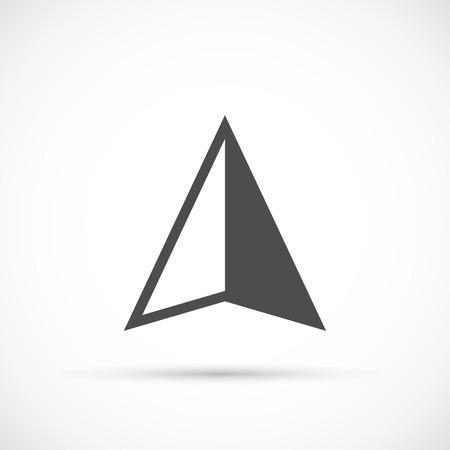 Illustration pour Navigation arrow icon. Navigation bacsic vector element - image libre de droit