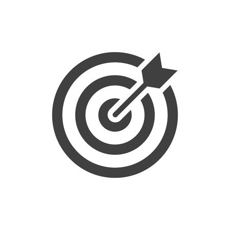 Illustration pour Target black icon on white background - image libre de droit