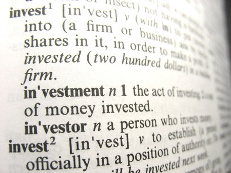 Investment as defined in the dictionary