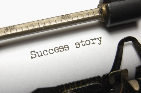 Success Story written on an old typewriter
