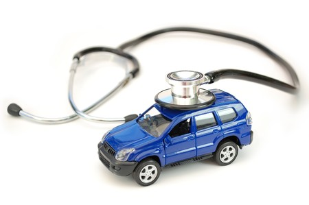 Stethoscope and toy car