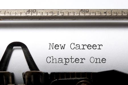 New career, new start concept