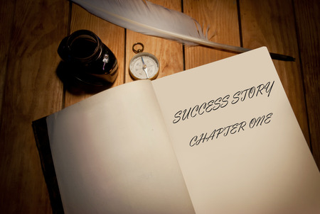 Success story first page of a book