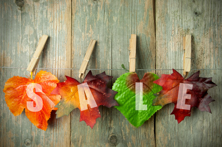 Photo pour Autumn sales - image libre de droit