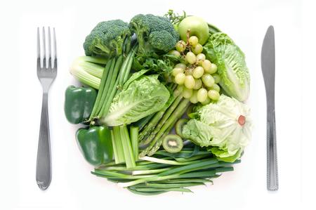 Foto für Fresh green fruits and vegetables meal concept - Lizenzfreies Bild