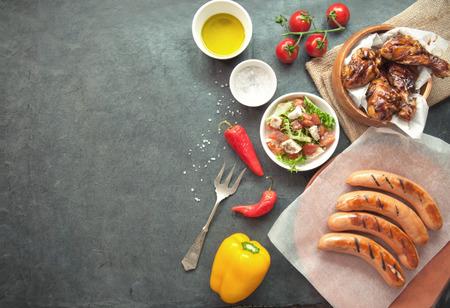 Photo pour Grilled meat meal - image libre de droit
